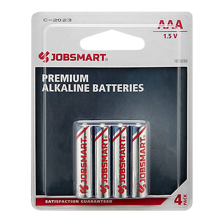 JobSmart AAA Alkaline Battery, Pack of 4