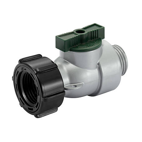 GroundWork Metal Hose Connector with Shutoff, GC-632