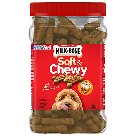 Milk Bone Milk-Bone Soft & Chewy Chicken Recipe Dog Treats, 25 oz. Tub