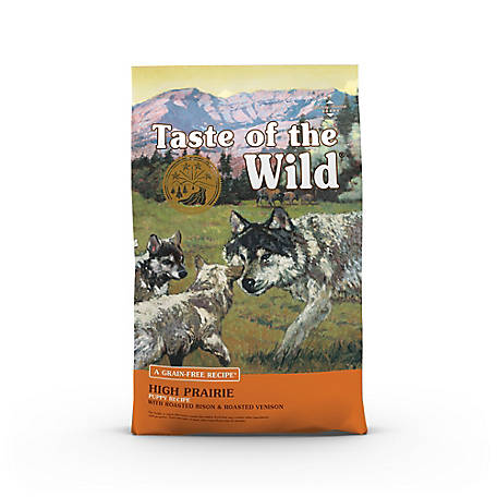 Taste of the Wild High Prairie Puppy Formula with Roasted Bison & Roasted Venison Dog Food, 5 lb. Bag
