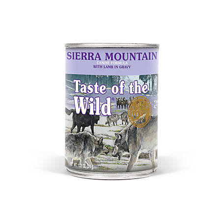 Taste of the Wild Sierra Mountain Canine Formula with Lamb in Gravy Dog Food, 13.2 oz. Can