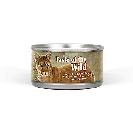 Taste of the Wild Canyon River Feline Formula with Trout and Salmon in Gravy, 3 oz. Can
