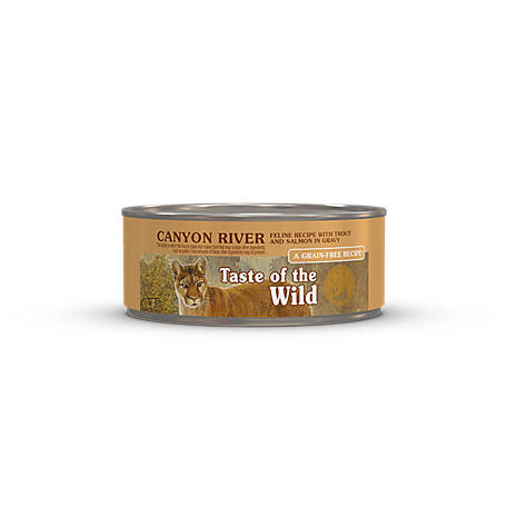 Taste of the Wild Canyon River Feline Formula with Trout and Salmon in Gravy, 5.5 oz. Can