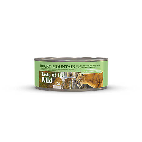 Taste of the Wild Rocky Mountain Feline Formula with Salmon and Roasted Venison in Gravy, 5.5 oz. Can