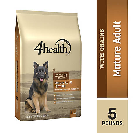 4health Original Mature Adult Formula for Adult Dogs 7+ Years of Age Dog Food, 5 lb. Bag