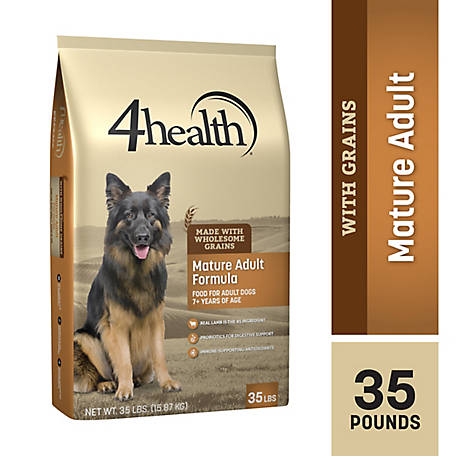 4health Original Mature Adult Formula for Adult Dogs 7+ Years of Age Dog Food, 35 lb. Bag