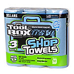 TOOLBOX Blue Shop Towels Roll, Pack of 3, 102467499