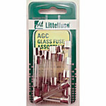Littelfuse AGC Series Glass Fuse Assortment, Pack of 15