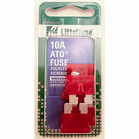 Littelfuse ATO 10A Blade Fuse, Pack of 5