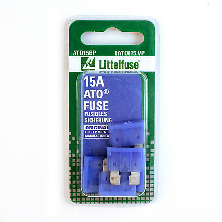 Littelfuse ATO 15A Blade Fuse, Pack of 5