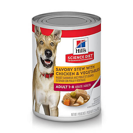 Hill's Science Diet Adult Savory Stew with Chicken & Vegetables Dog Food, 12.8 oz.