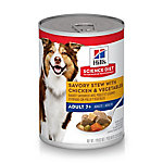 Hill's Science Diet Mature Adult Savory Stew with Chicken & Vegetables Dog Food, 12.8 oz. Can