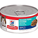 Hill's Science Diet Mature Adult Tender Tuna Dinner Cat Food, 5.5 oz. Can