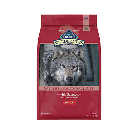 Blue Buffalo Wilderness Salmon Recipe Dog Food For Adult Dogs, 4.5 lb. Bag