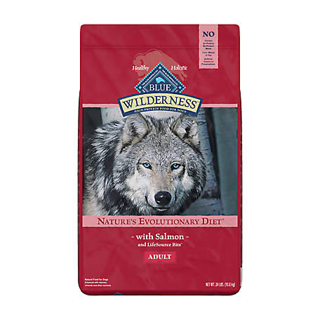 Blue Buffalo Wilderness Salmon Recipe Dry Dog Food For Adult Dogs, 24 lb. Bag