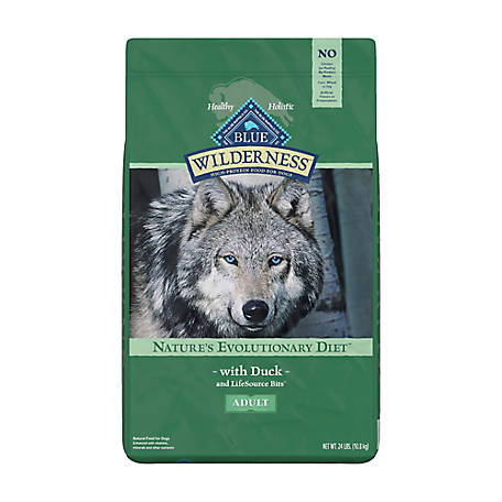 Blue Buffalo Wilderness Duck Recipe Dog Food For Adult Dogs, 24 lb. Bag