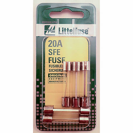 Littelfuse SFE Glass 20A Fuse, Pack of 5