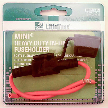 Littelfuse Mini Heavy-Duty In-Line Fuseholder with Cover