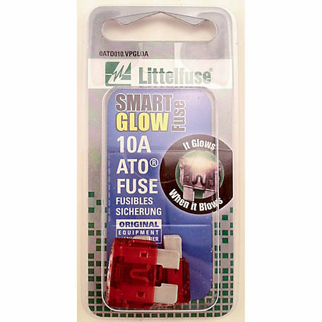 Littelfuse Smart Glow 10A ATO Blade Fuse, Pack of 2