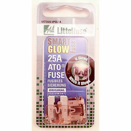 Littelfuse Smart Glow ATO 25A Blade Fuse, Pack of 2