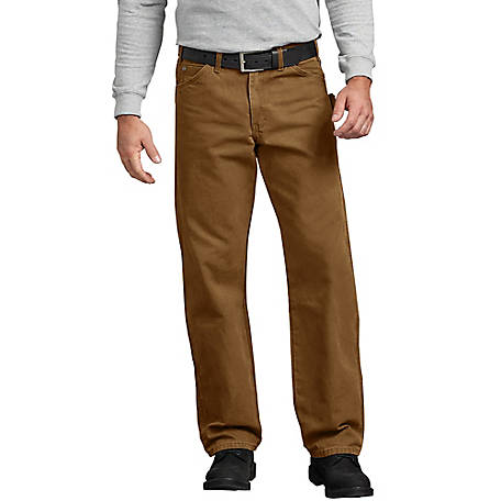 d6335c191a395 Dickies Men's Relaxed Fit Straight Leg Carpenter Duck Jean