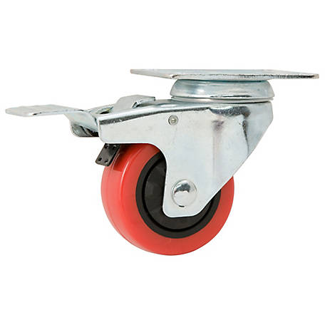 Waxman Titan Casters 3 in. Swivel with Brake Polyurethane Caster, 175 lb. Capacity, 4120555TD