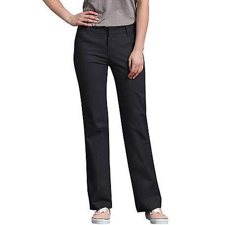 Dickies Women's Relaxed Straight Stretch Twill Pants