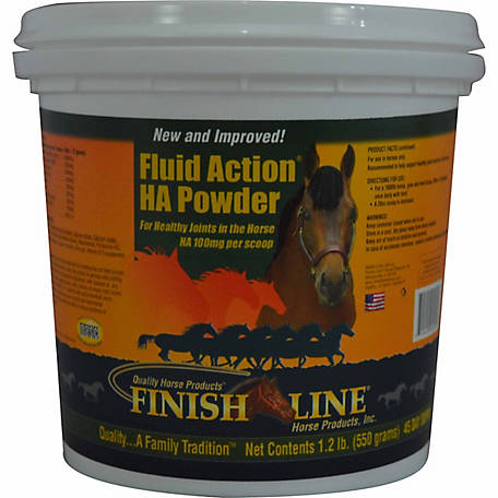 Finish Line Horse Products Inc. Fluid Action HA Powder, 1.2 lb.