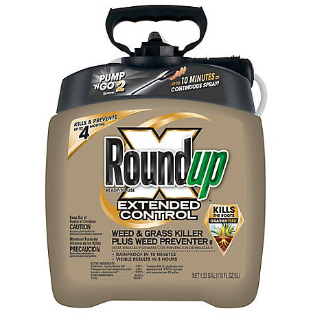 Roundup Ready-To-Use Extended Control Weed & Grass Killer Plus Weed Preventer II with Pump 'N Go 2, 1.33 gal., 5725070