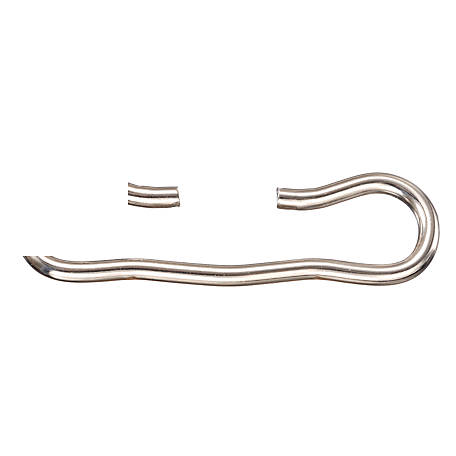 Tough-1 Nickel-Plated Bucket Hooks, Pack of 3