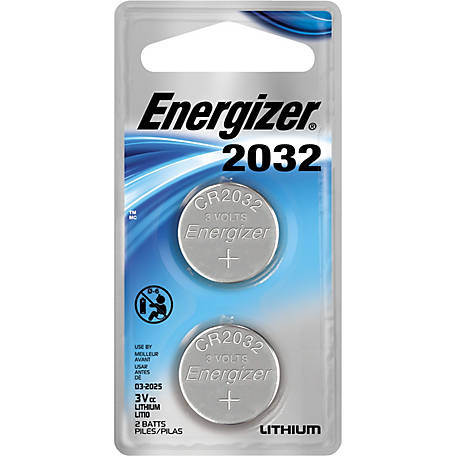 Energizer 2032 Lithium Coin Batteries, Pack of 2