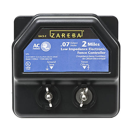 Zareba 2-Mile AC-Powered Fence Charger, EA2M-Z