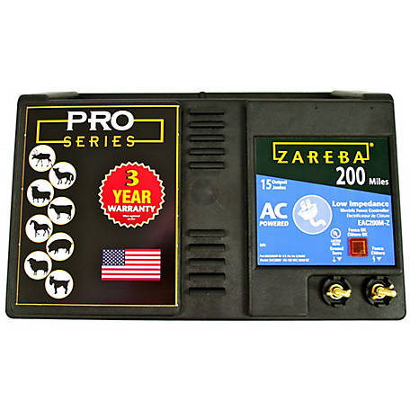 Zareba 200 Mile AC Low Impedance Fence Charger, EAC200M-Z