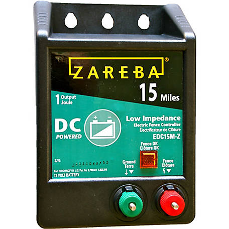 Zareba 15 Mile Battery Operated Low Impedance Fence Charger At