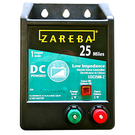 Zareba 25-Mile Battery Operated Solid State Fence Charger, EDC25M-Z
