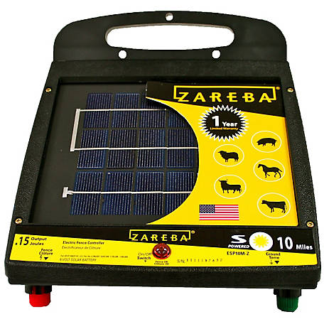 Zareba 10 Mile Solar Low Impedance Fence Charger, ESP10M-Z