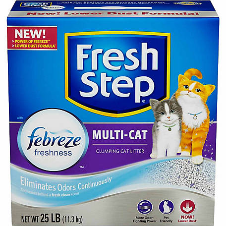 Fresh Step Multi-Cat Scented Scoopable Cat Litter, 25 lb.