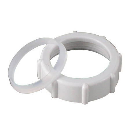 LDR 1-1/4 in. Slip Nut & Washer, Plastic