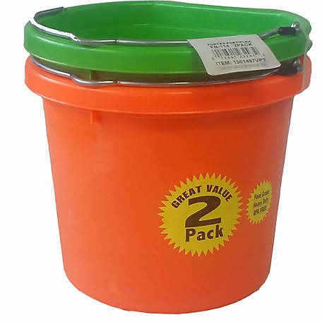 Fortex 14 qt. Flat Back Bucket, Pack of 2