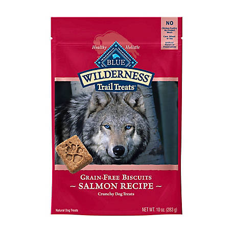 Blue Buffalo Wilderness Trail Treats Salmon Biscuits Grain-Free Natural Crunchy Dog Treats, 10oz