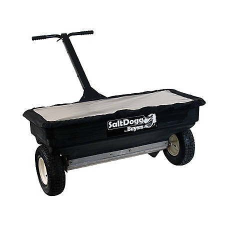 SaltDogg Walk Behind Broadcast Spreader, 2.5 cu. ft., Poly/Stainless Steel