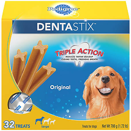 Pedigree Dentastix Original Treat, Large Dog, Pack of 32
