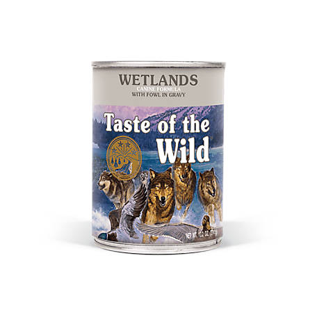 Taste of the Wild Wetlands Canine Formula with Fowl in Gravy Dog Food, 13.2 oz. Can
