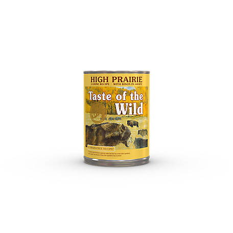 Taste of the Wild High Prairie Canine Formula with Bison in Gravy Dog Food, 13.2 oz. Can