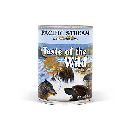 Taste of the Wild Pacific Stream Canine Formula with Salmon in Gravy Dog Food, 13.2 oz. Can