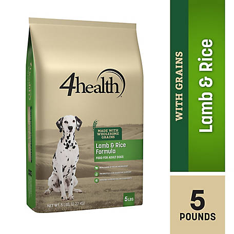 4health Original Lamb & Rice Formula Adult Dog Food, 5 lb. Bag