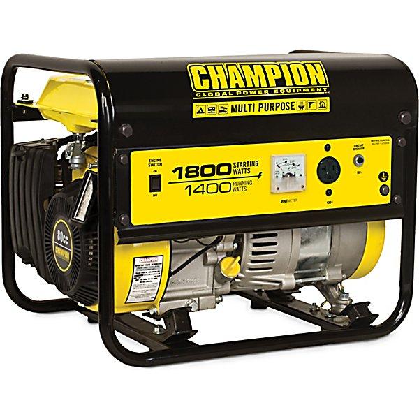 champion power equipment? 1,400w/1,800w portable generator, carb compliant