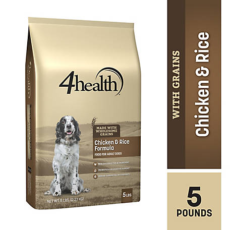 4health Original Chicken & Rice Formula Adult Dog Food, 5 lb. Bag