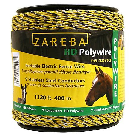 Zareba 400m Polywire with 9 Conductors