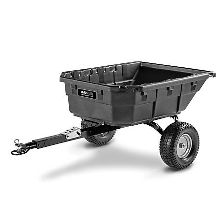 Ohio Steel 15 cu. ft. Hybrid ATV/L&G Poly Swivel Cart, 4048P-HYB
